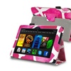 Insten For Amazon Kindle Fire HDX 7in Stand Leather Case, Pink Giraffe