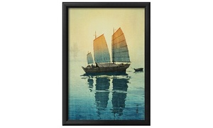 Groupon Goods: Morning, from a Set of Six Prints of Sailing Boats by Yoshida Hiroshi