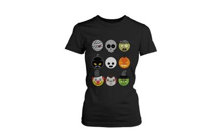 Halloween Monsters Women's Shirt Graphic Tee for Haunt Night