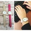 Faux Leather Chic Watch-5 Colors