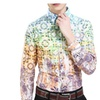 Men's Fashion Cosy Cotton Slim Fit Printed Long Sleeve Shirt