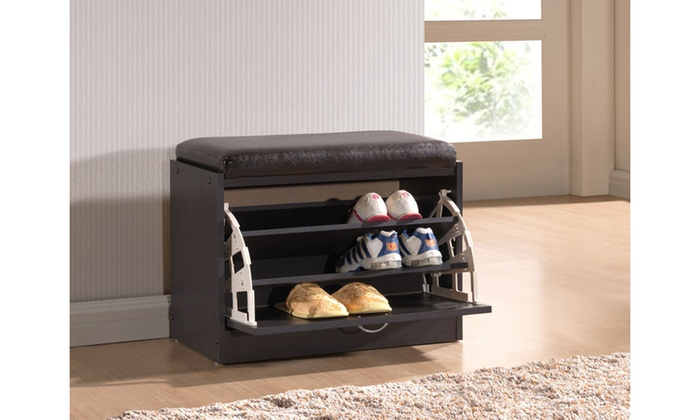 Contemporary Shoe Rack Bench Groupon