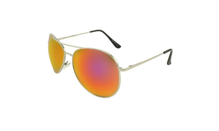 MLC EYEWEAR Tri-Layer Chic Aviator Sunglasses - SVRRD