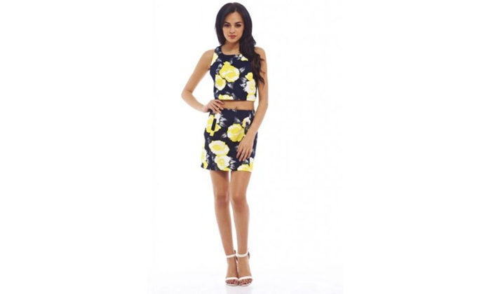 AX Paris Floral Print Skirt