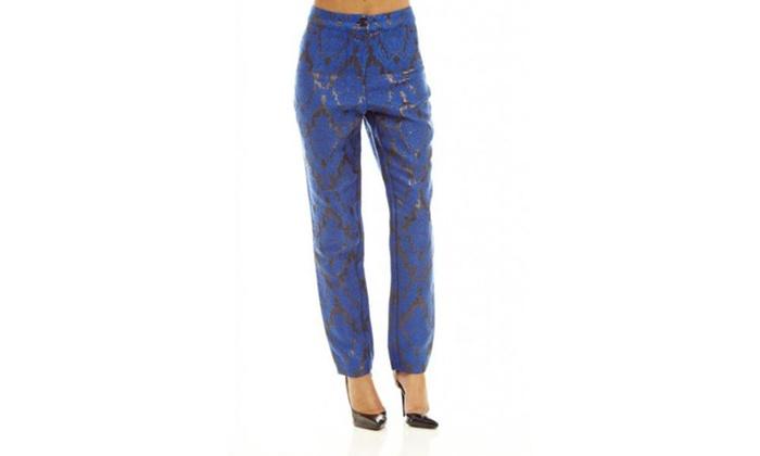 AX Paris Jacqaurd Metallic Printe  Pants
