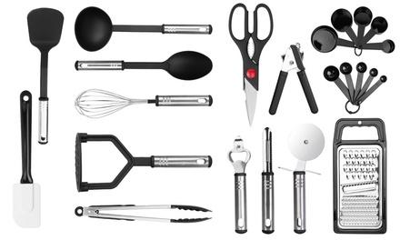 iMounTEK Stainless Steel & Nylon Heat Resistant Kitchen Utensil Set (23 Piece)