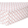 Trend Lab Coral Quatrefoil Deluxe Flannel Fitted Crib Sheet
