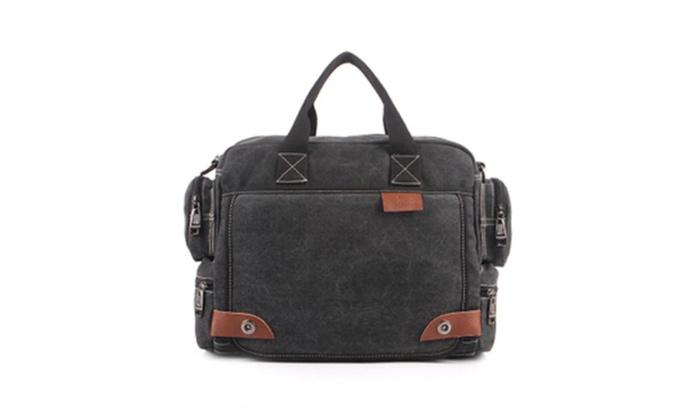 Shefetch Men's Vintage Canvas Briefcases Messenger Bag