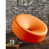 Nouvelle Bonded Leather Modern Donut Chair
