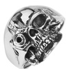 Stainless Steel Soldier Skull Ring in Different Sizes SSR5
