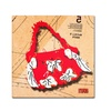 Roderick Stevens Bow Purse White on Red Canvas Print