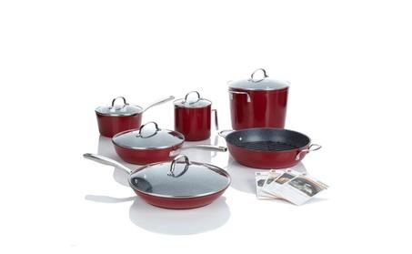 Curtis Stone Nonstick 12-piece Chef's Cookware Set - Refurbished 69f1bbae-b10b-4882-a429-843e2b74ef33