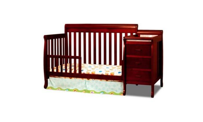 Superbe AFG Baby Furniture Kimberly 3 In 1 Convertible Crib Cherry