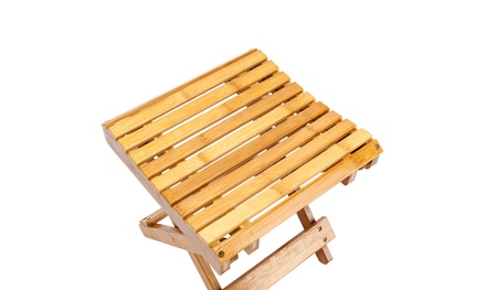 Children Multi-function Collapsible Bamboo Wooden Stool Folding Seat Foot