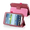 "Insten Rose Red Folio Case Stand Cover for Samsung Galaxy Tab 3 7"" 3G"