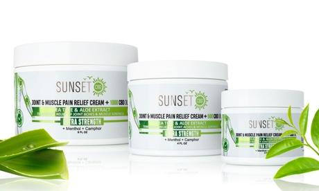 Sunset CBD Cream with Menthol, Tea Tree & Aloe Vera (250mg, 500mg or 1000mg)