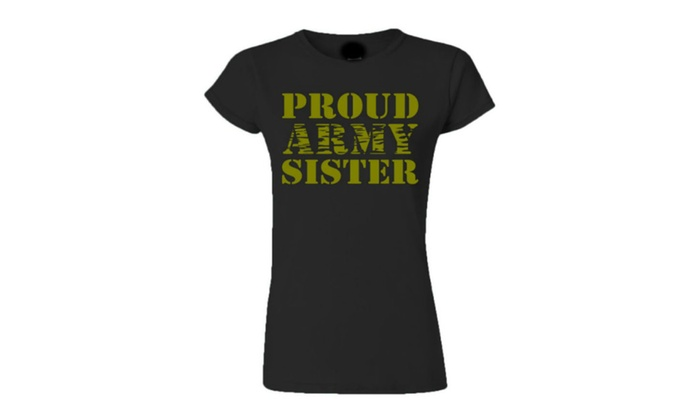 Juniors Proud Army Sister T-shirt