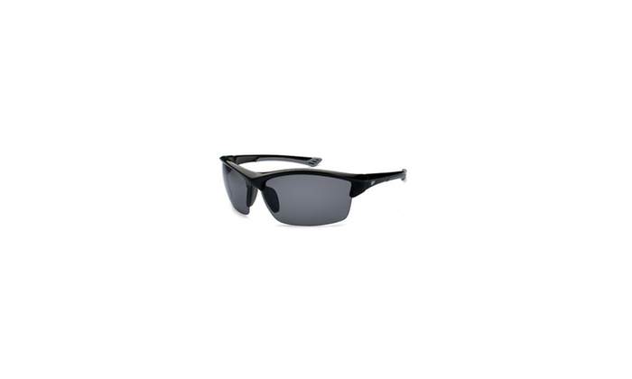 Gone Fishing Sunfish Black-Grey Frame-Grey Lens Sunglasses