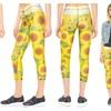 Terez Women's Performance Capri Leggings, Sunflower