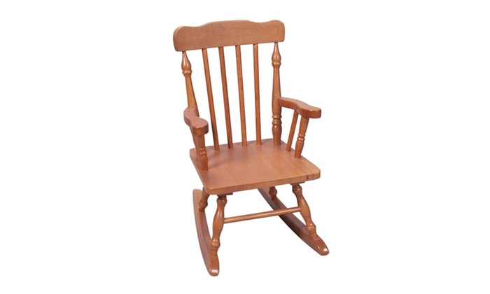 Childs Spindle Rocking Chair (Honey) ...