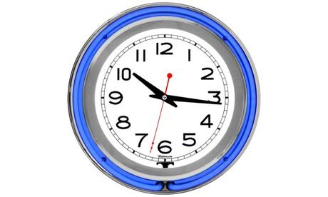 14 Inch Double Ring Neon Clock 3205192e-3d98-4d01-abe0-861ca9b5ff55