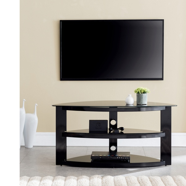 gaming tv stand Garner Contemporary Corner Gaming TV Stand Style - Black | Groupon