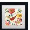 Lisa Audit 'Rainbow Garden III - Cream' Matted Framed Art