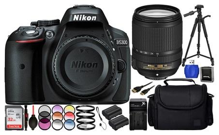 Nikon D5300 DSLR Camera with 18-140mm Lens Value Bundle 0fcbd9df-6d8a-4f87-8b44-24403594e63c