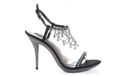 7735f56acec2 Shop Groupon Cascading Rhinestone Evening Bridal Wedding Heel Sandal Womens  Shoes