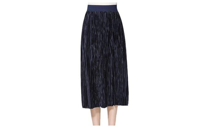 Women's Ladies Pullover Loose Fit Simple Straight Hem Skirts