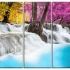 Erawan Waterfall - Landscape Photography Metal Wall Art