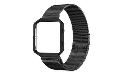 Shop Groupon Stainless Steel Milanese Loop Watch Band with Frame For Fitbit Blaze