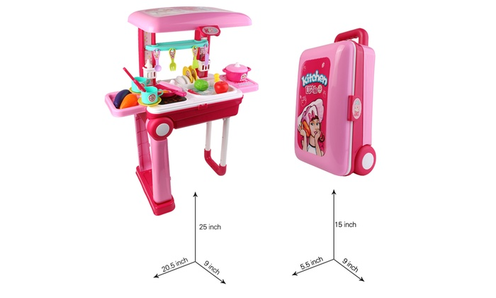 Educational Gourmet Kitchen Cooking Set Toy Fold into ...