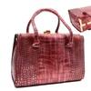 Retro 50s Style Pink Vegan Textured Leather Vintage Handbag Box Purse