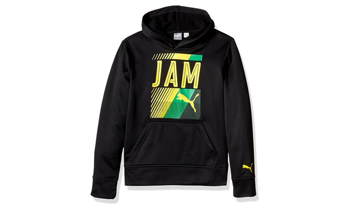 c140a7e00a22 PUMA Big Boys  Jamaica Brazil Olympic Hoodie with Carry Sack