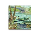 Vincent Van Gogh Fishing in the Spring Canvas Print