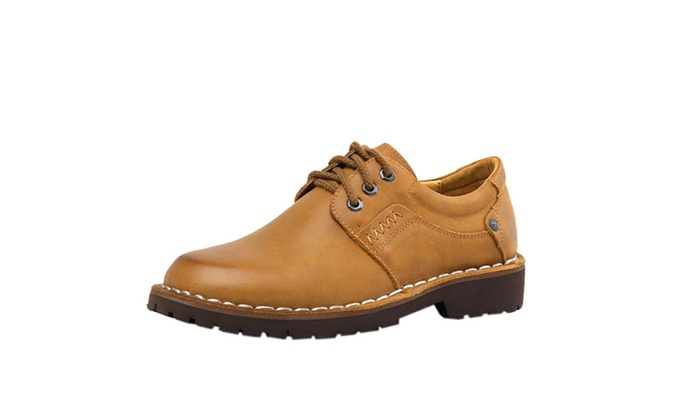 DPN Men's Laceup Pigskin Leather 7 Sizes Oxford Shoes Boots