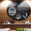 Set Barbershop' Disc Large Contemporary Circle Metal Wall Arts