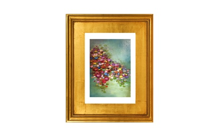 If my kisses were lilies -Framed Fine art