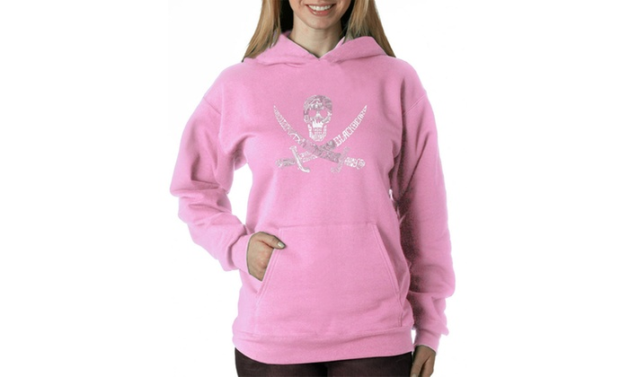 Women's Hooded Sweatshirt -PIRATE CAPTAINS, SHIPS AND IMAGERY