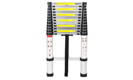 12.5 ft Upgrade Aluminum Telescoping Stretchable Ladder Extension Tall Was: $130.00 Now: $59.99