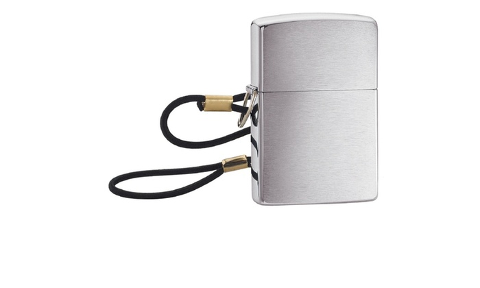 Zippo Windproof Lighter Loop And Lanyard Brushed Chrome