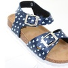 Hearts Double Banded Cork Sole Girls Flat Sandals