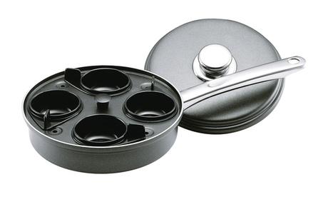 Farberware Accessories Aluminum Nonstick Covered Egg Poacher, Gray 8d3d69f4-d975-43f1-aa0d-090e48a2d738
