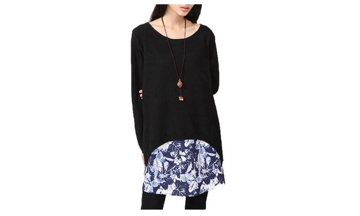 Himaraya Women's Wool Knit Top Ribbed Hem Casual Pullover Sweater