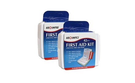 42 Piece Compact First Aid Kit Perfect For Car - Travel - Sports - Outdoors - Home