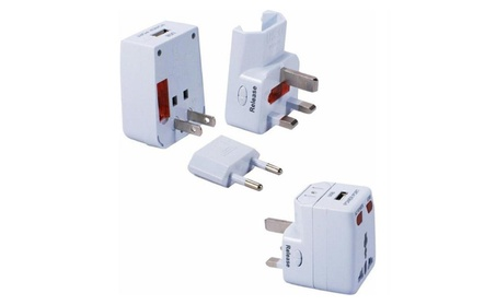 QVS World Power Travel AC Adapter Kit with USB and Surge Protection 376198c1-1e3d-4013-b852-cd97732d6cc4
