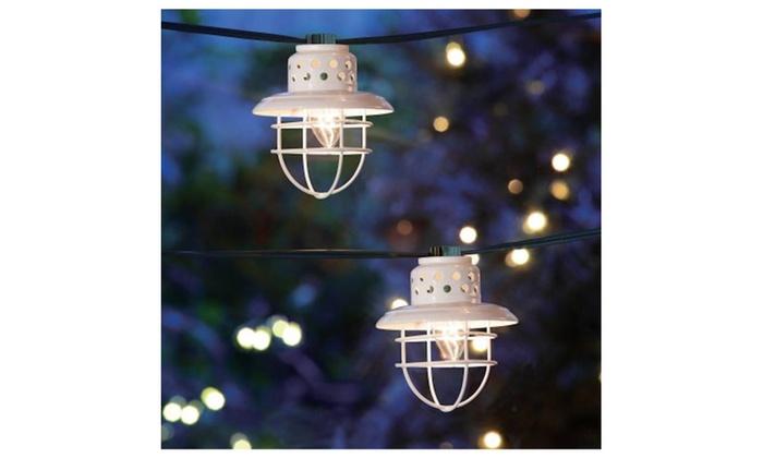 Holiday Time Christmas Lights.Holiday Time Christmas Lights Clear C7 White Lantern Lights 10 Count