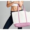 """Cotton Canvas 20"""" Beach Tote/Bag-Asst color"""