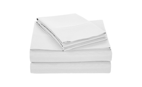 Set of 4 Piece Solid Luxury Pattern Bed Sheets Set e58a716c-60fe-48f5-a2b6-414b1153575f